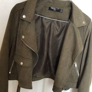 Olive crop top jacket